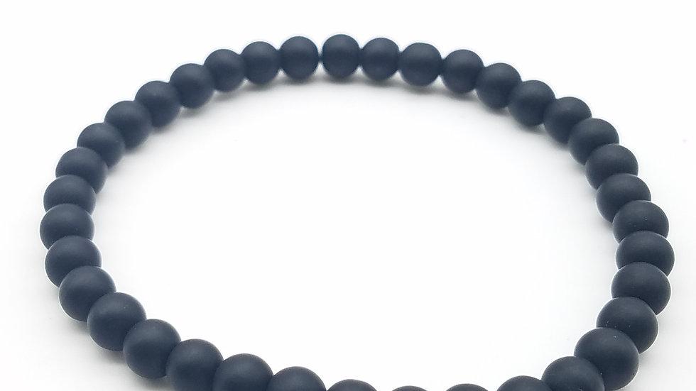 Black Beaded Unisex Bracelet