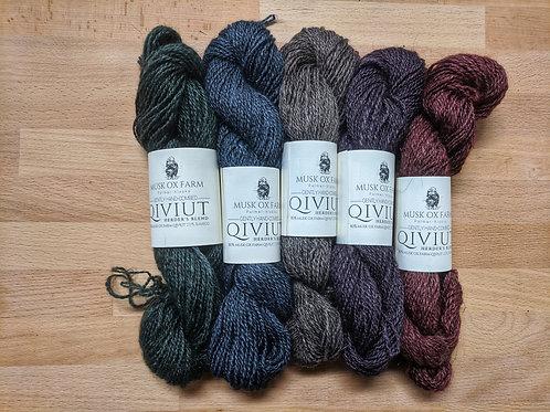 80% Qiviut 20% Bamboo Yarn Natural Color