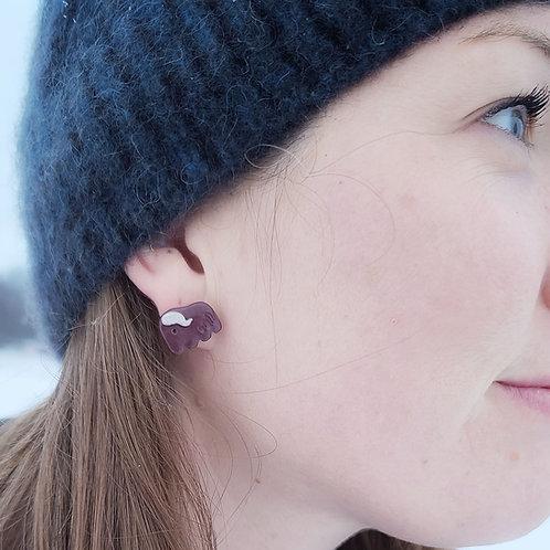 Clay Musk Ox Earrings
