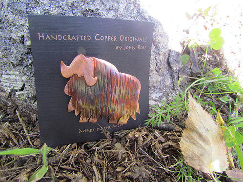 Copper Musk Ox Pin