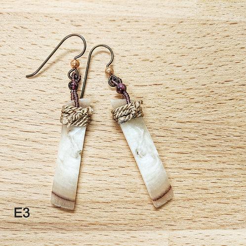 Arctic Owl Horn Earrings