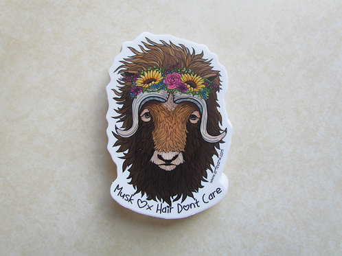 Musk Ox Hair Don't Care Sticker