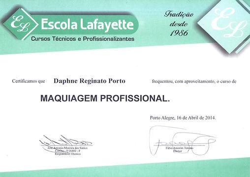 Curso de Maquiagem Profissional da Escola Lafayette, Cursos Técnicos e Profissionalizantes