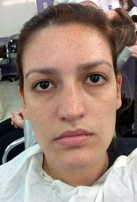 Maquiagem antes