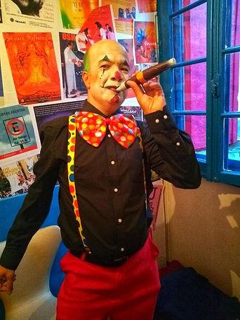 Clown. Maquiagem de palhaço.