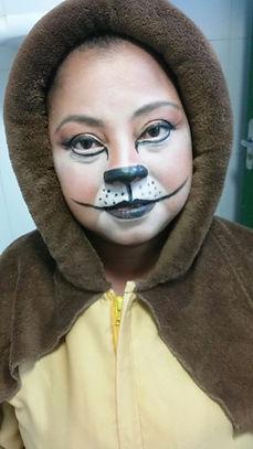 Maquiagem de leão para teatro infantil