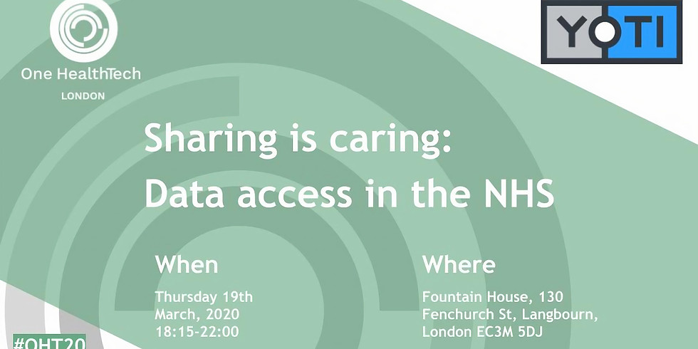 Sharing is caring Data access in the NHS (London)