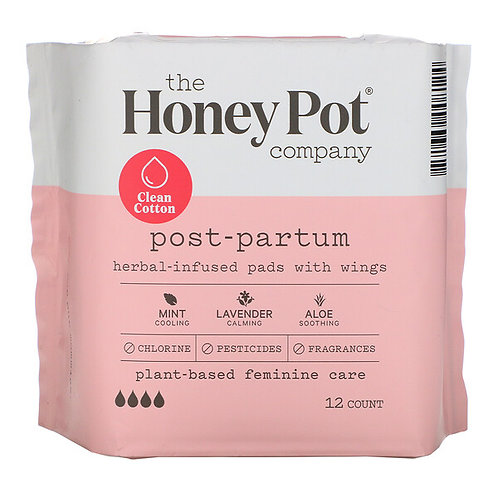 The HoneyPot Co. Maternity Pads with Wings. 12 count.