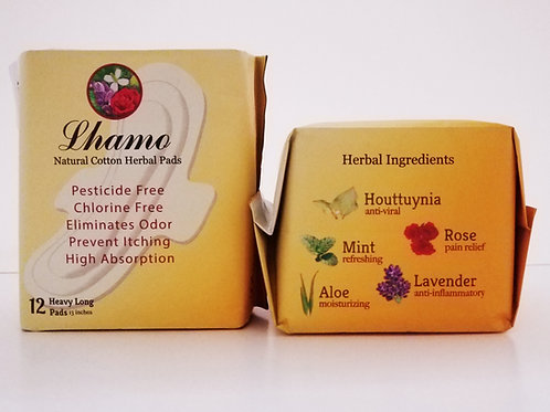 Lhamo Super~Long Herbal Pads with Wings