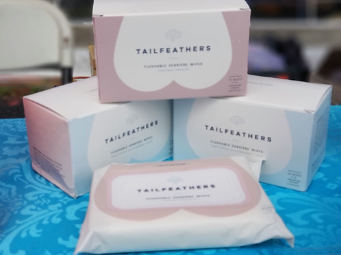 Tailfeathers Wipes - Individually Wrapped.