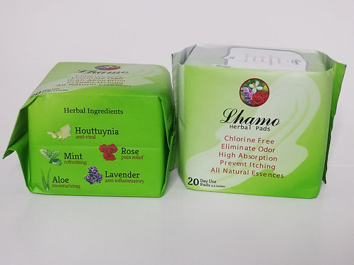 Lhamo Herbal Pads.  Regular.  9 inches.
