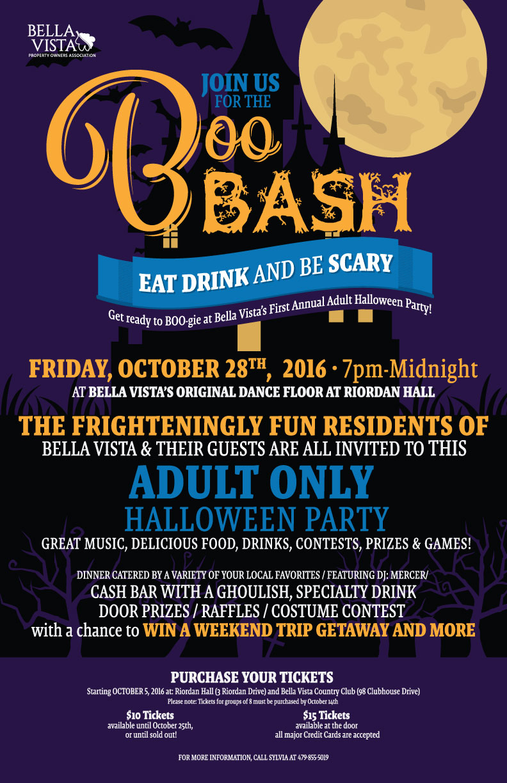 Boo Bash Halloween Poster