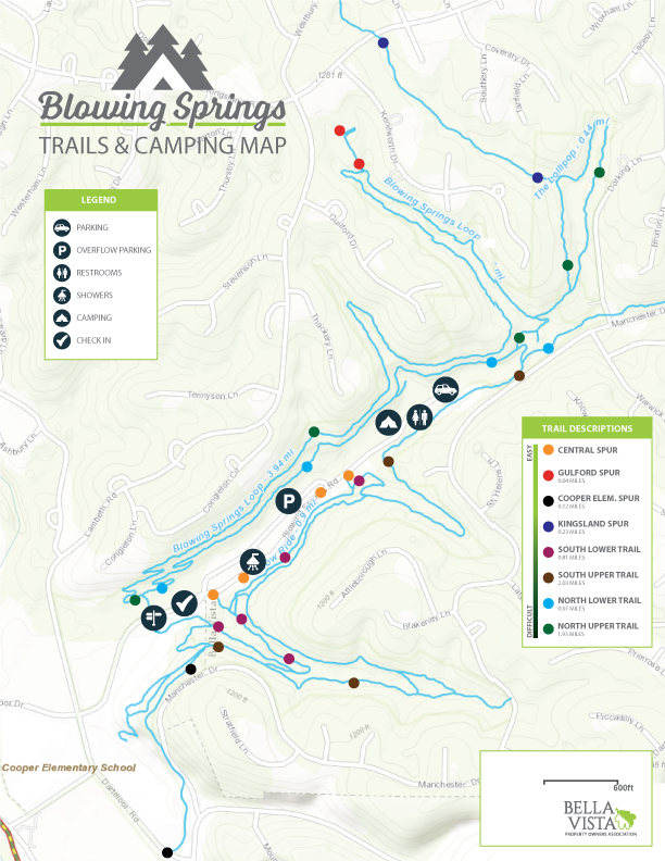 Blowing Springs Event and Trail Map