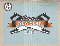 Community Forklift New Year Card