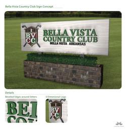 Bella Vista Country Club Sign