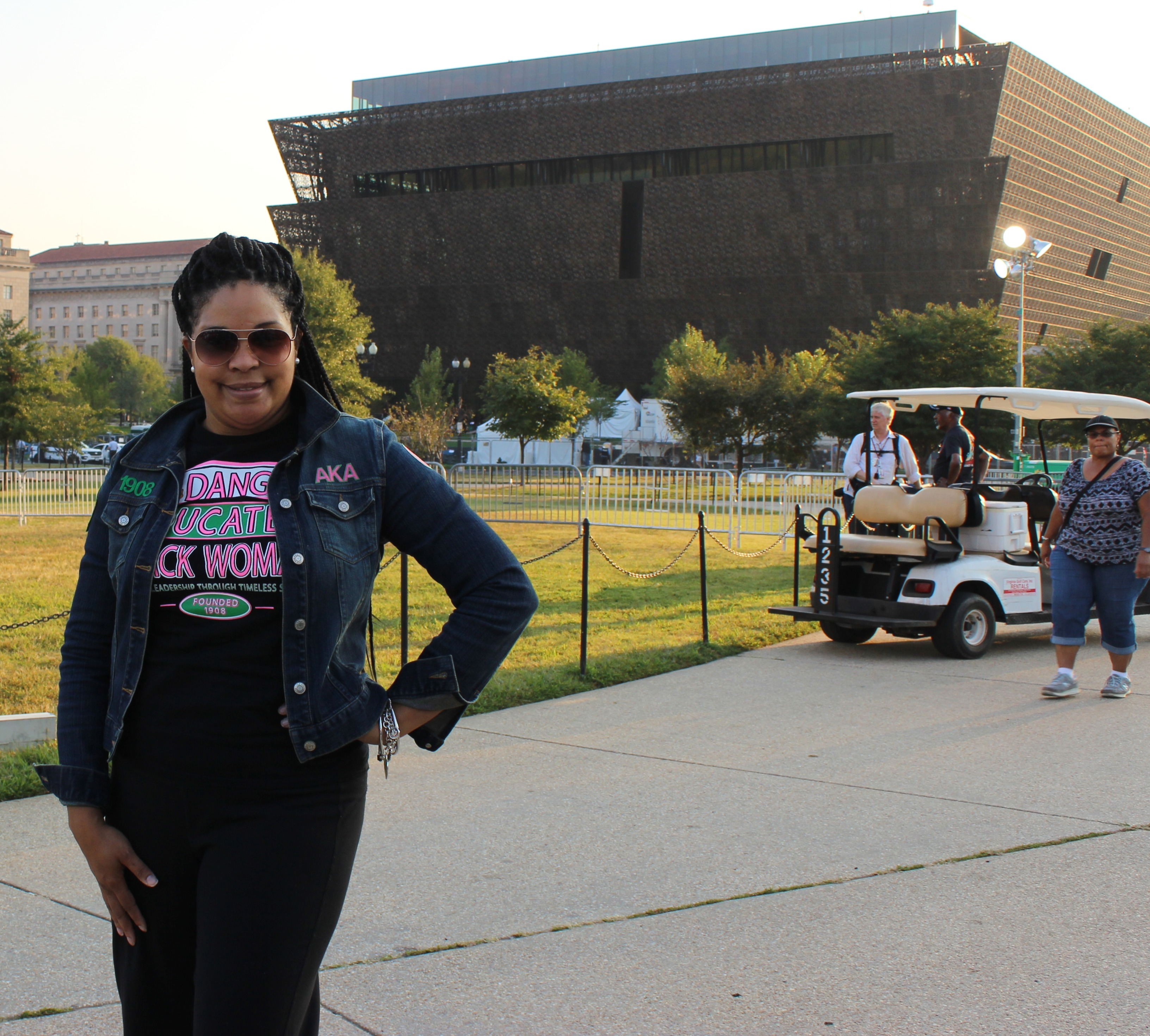 Stacey at the National Museum of African American History and Culture