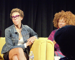 Artists Amy Sherald with Joyce J. Scott
