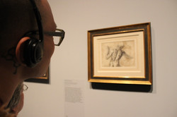 Viewing Michelangelo sketch