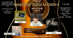 March 2020 Songwriter Night at Studio G.
