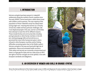 Challenges and needs of displaced women and girls in northern France