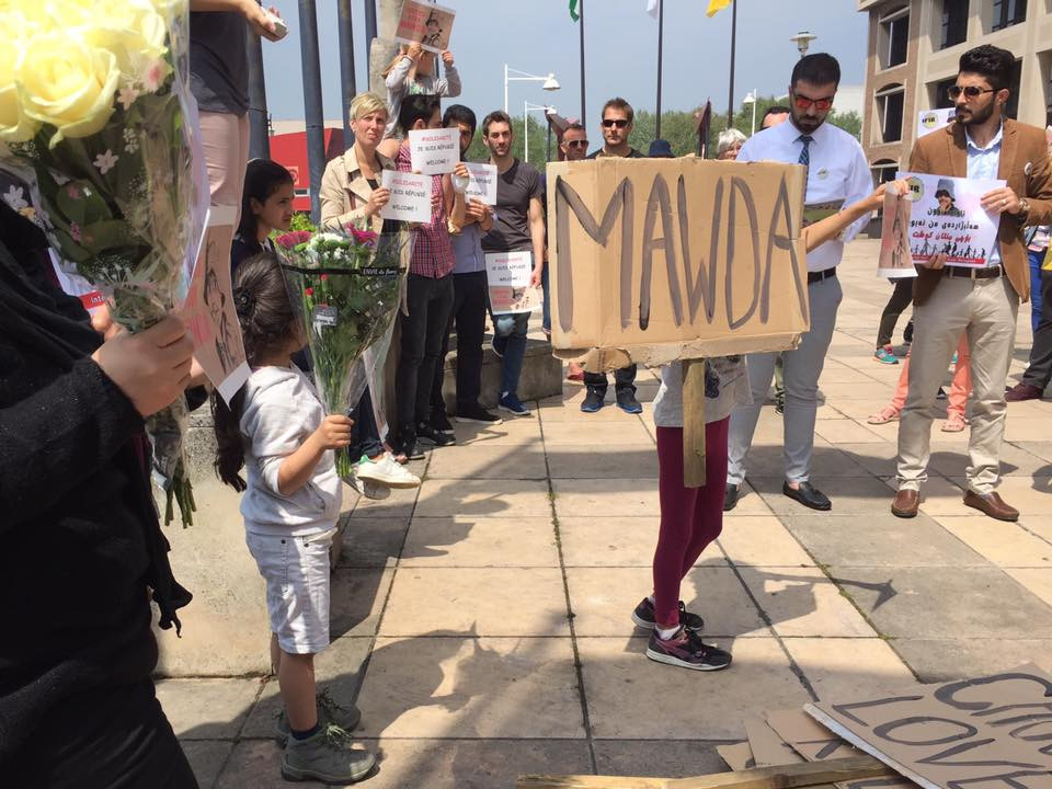 Members of the Kurdish community, volunteers and local residents came together to honour Mawdas life and protest her untimely death Saturday 26/05/18.