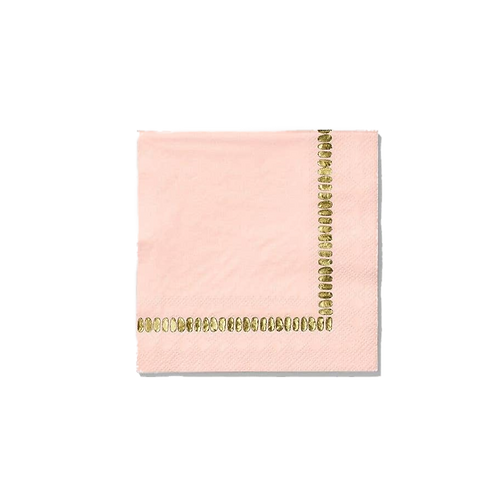 Pale Pink Brushstroke | Cocktail Party Napkins