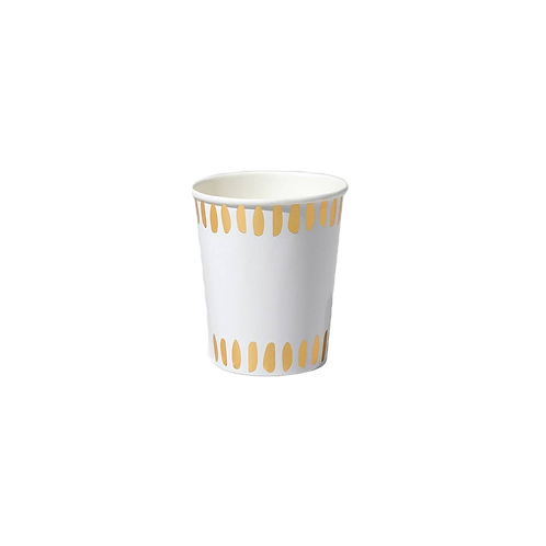 Gold Brush Stroke Party Cups