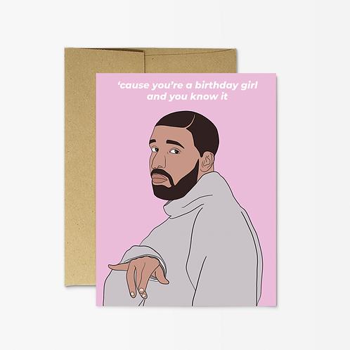 Drake Birthday Girl Card