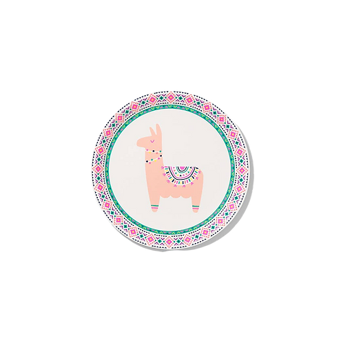 Happy Llama Small Paper Party Plates