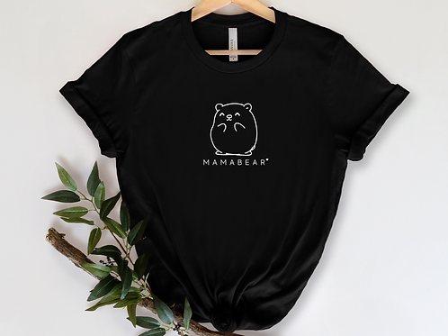 Mama Bear White Ink X Print Short-Sleeve Unisex T-Shirt | Black