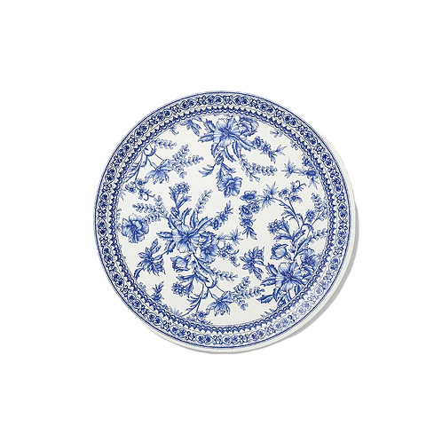 French Toile Large Paper Party Plates