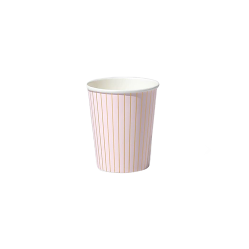 Pale Pink Pinstripe Cups
