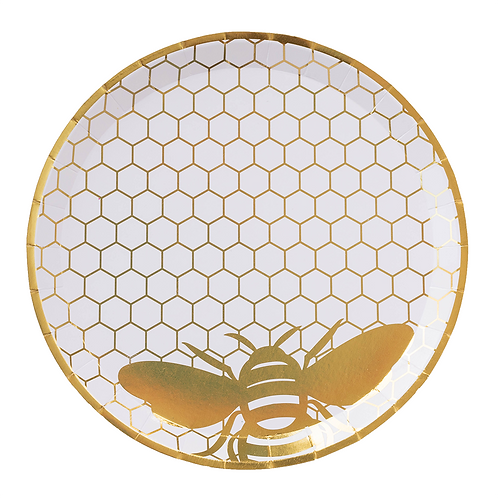 Hey, Bae-Bee Gold Foil | Large Party Plates