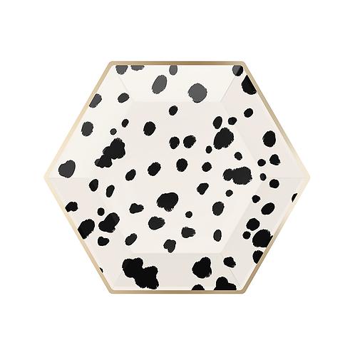 Paper Plates Hexagon Dalmatian