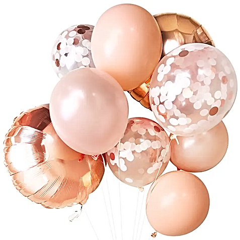 Blush Gold and Pink Balloons