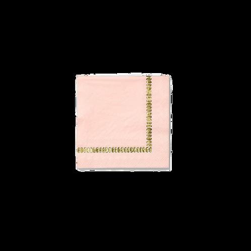 Pale Pink Brushstroke Cocktail Napkins (25 Count)