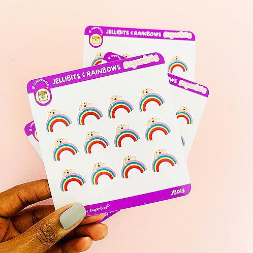 Jellibits & Rainbows | Sticker Sheet