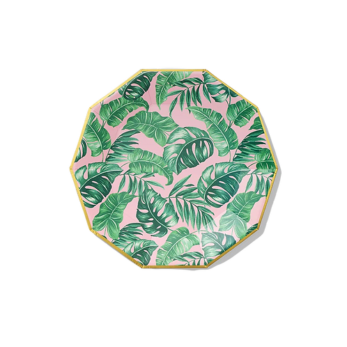 Palm Leaves Large Paper Party Plate
