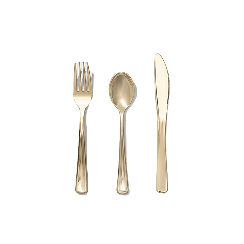 Metallic Gold | Party Cutlery