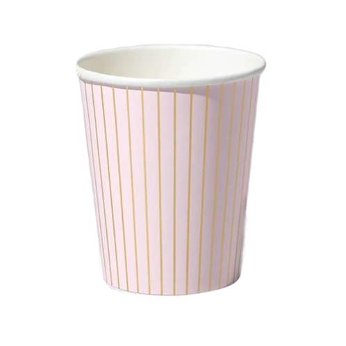 Pale Pink Pinstripe | Party Cups