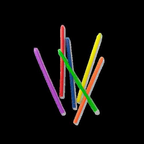 Rainbow Glitter Candles