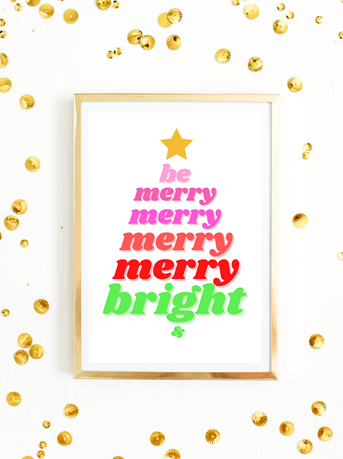 Merry & Bright - Instant Download Printable