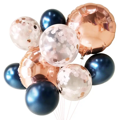 Balloon Bouquet Navy & Blush