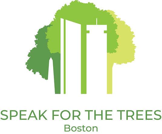 Skyline Boston with trees Speak for the Trees Boston