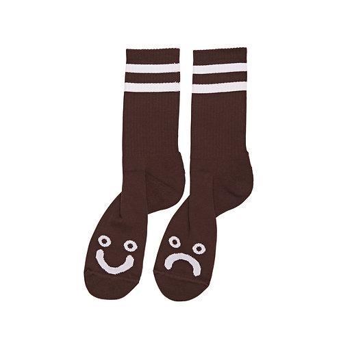 Polar Socks Happy Sad Brown
