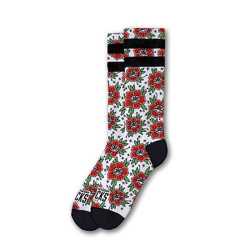 Signature Mid High-Socks n' Roses L/XL