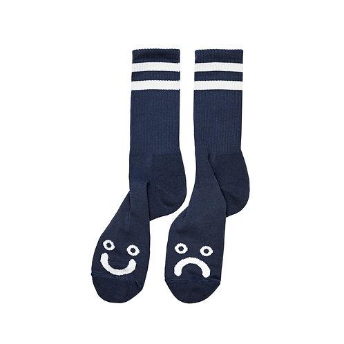 Polar Socks Happy Sad Navy