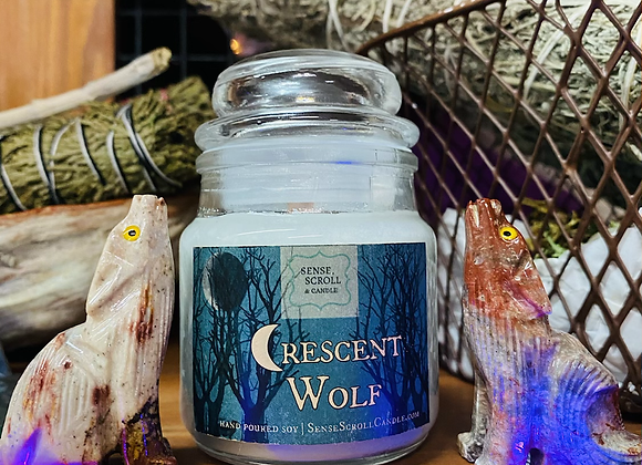 Crescent Wolf Candle | Small