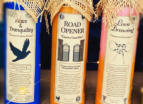 ROAD OPENER. Fixed Candle. Create a Clear Path, Paths the Way On Your Journey
