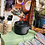 Thumbnail: CAST IRON INCENSE BURNER with Wooden Handle and Lid